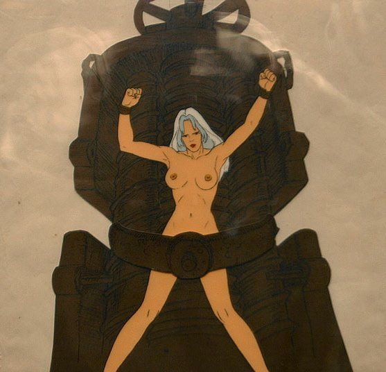 Taarna on rack (production cel)